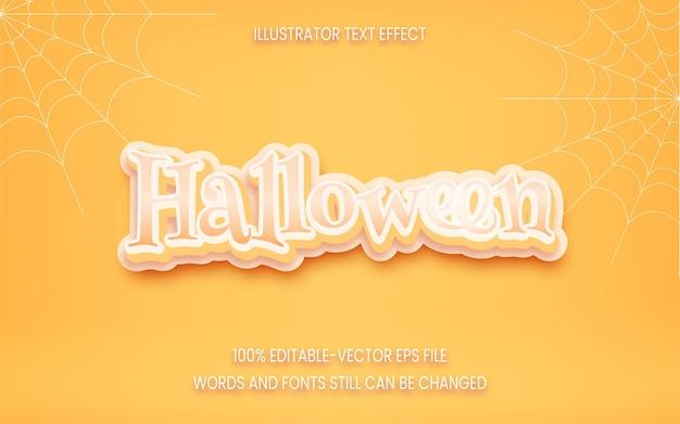Efecto de texto editable de halloween