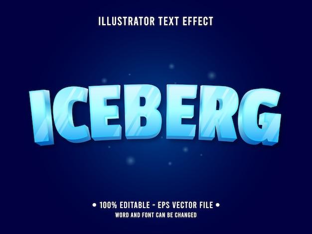 Efecto de texto editable de hielo congelado