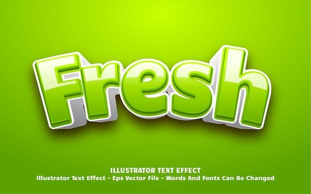Efecto de texto editable, ilustraciones de estilo fresco