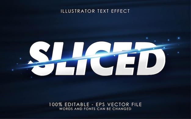 Efecto de texto editable, ilustraciones de estilo en rodajas