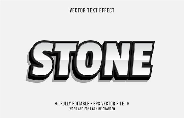 Efecto de texto editable limpio estilo de piedra moderno