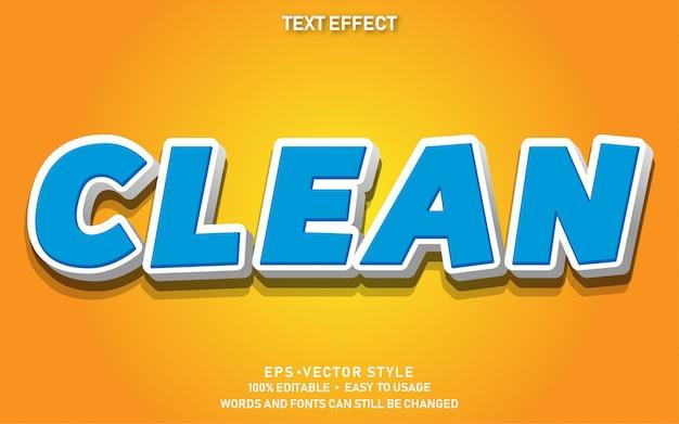 Efecto de texto editable limpio