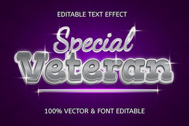 Efecto de texto editable de lujo elegante de estilo veterano especial