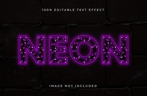 Efecto de texto editable con luz de neón