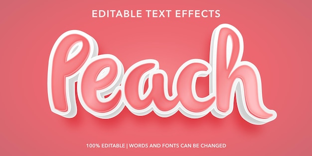 Efecto de texto editable melocotón