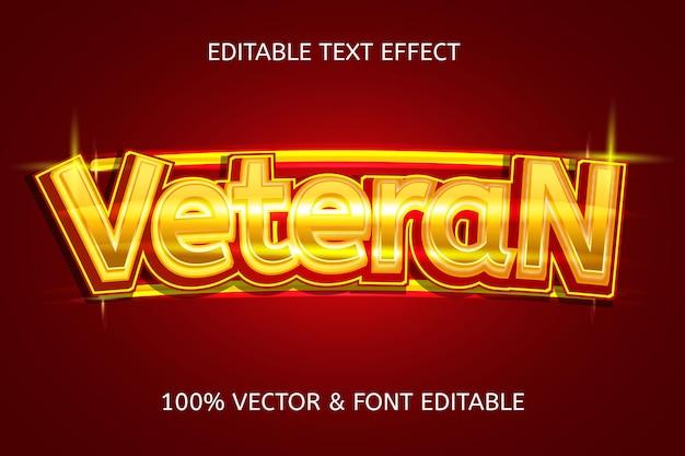 Efecto de texto editable moderno de estilo veterano