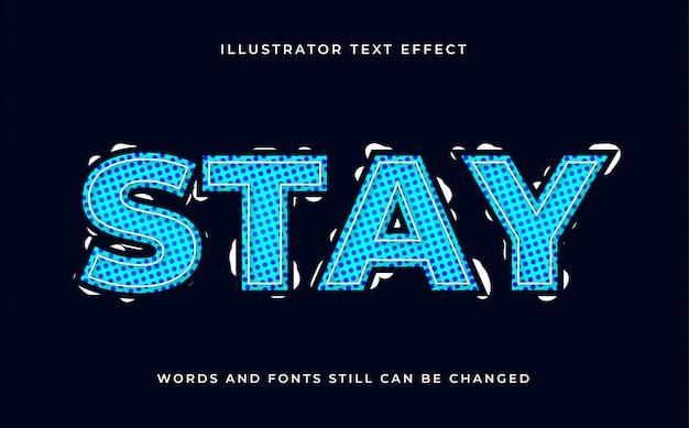 Efecto de texto editable moderno