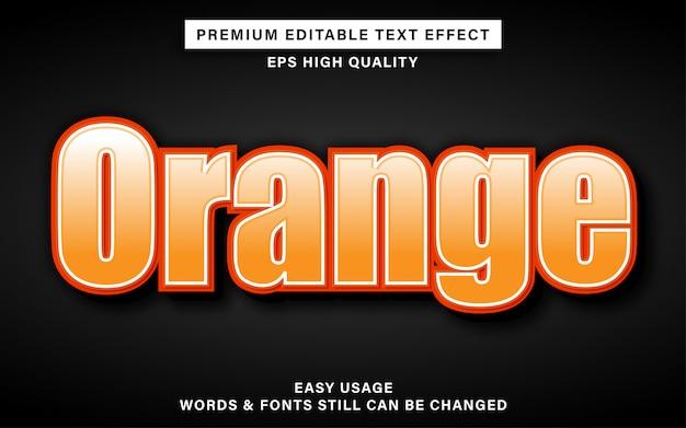 Efecto de texto editable naranja fresco