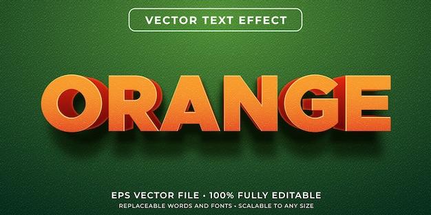 Efecto de texto editable naranja