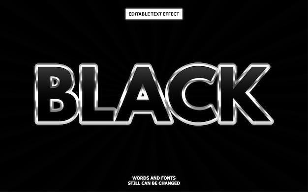 Efecto de texto editable negro de lujo