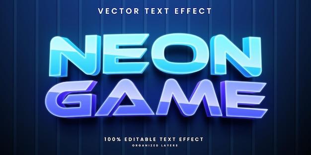 Efecto de texto editable de neón