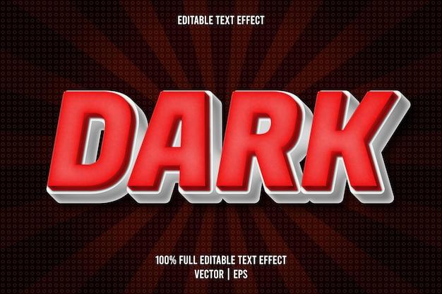 Efecto de texto editable oscuro estilo cómic