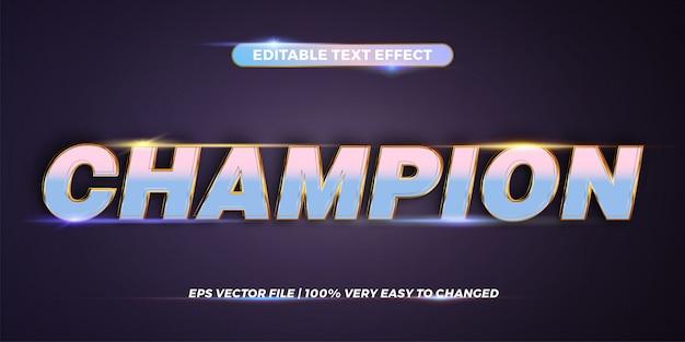 Efecto de texto editable - palabra de campeón