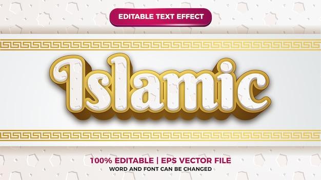 Efecto de texto editable patern islámico