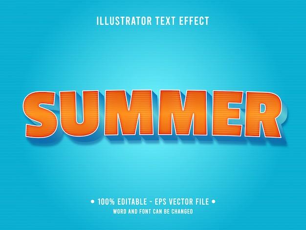 Efecto de texto editable de playa de verano