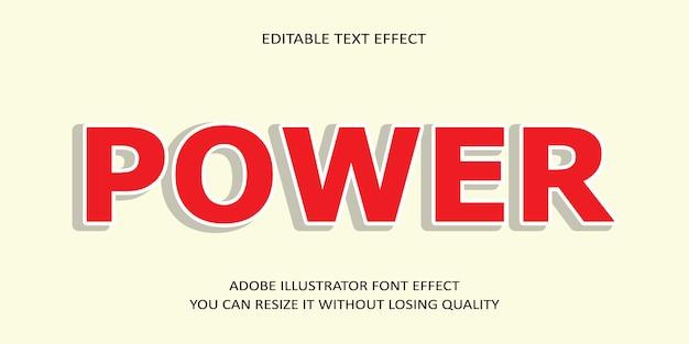 Efecto de texto editable potente