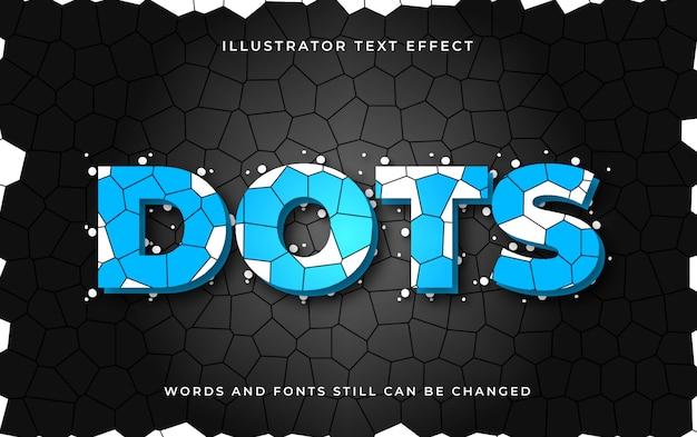 Efecto de texto editable de puntos
