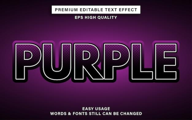 Efecto de texto editable púrpura