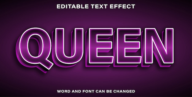 Efecto de texto editable - queen