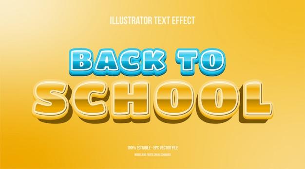 Efecto de texto editable de regreso a la escuela