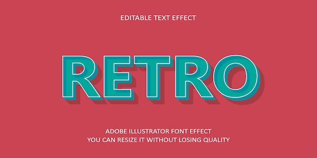 Efecto de texto editable retro