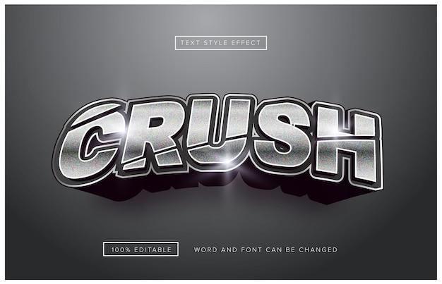Efecto de texto editable silver crush