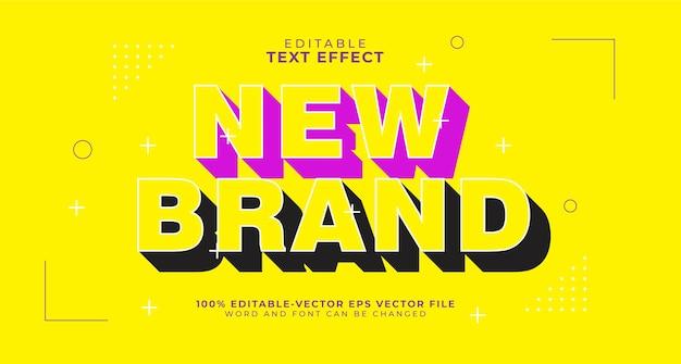 Efecto de texto editable de sombra en negrita