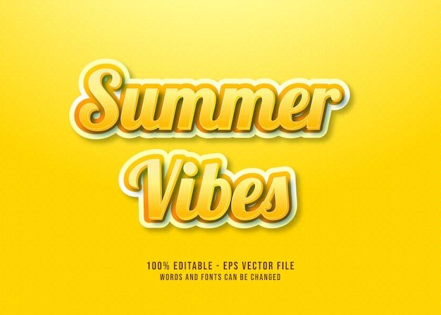 Efecto de texto editable summer vibes
