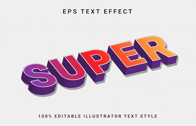 Efecto de texto editable super 3d