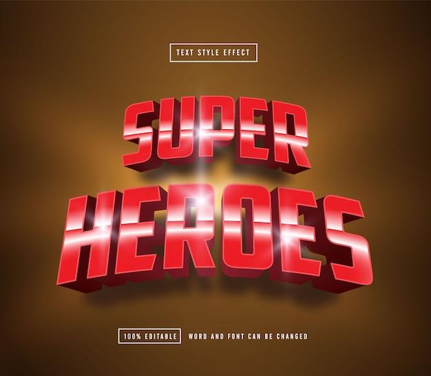 Efecto de texto editable de super heroes