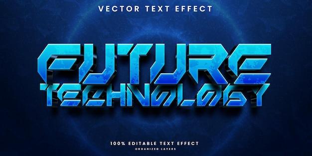 Efecto de texto editable de tecnología futura.