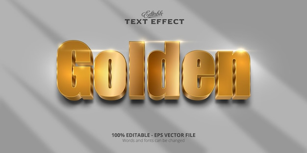 Efecto de texto editable, texto dorado