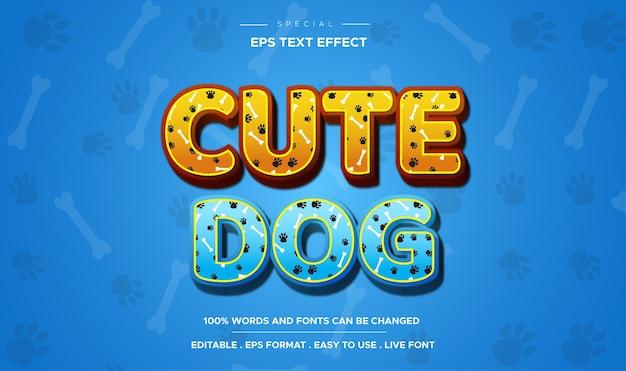 Efecto de texto editable de texto de historieta cómica de perro lindo