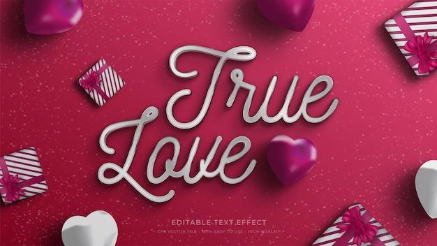 Efecto de texto editable de tipografía de san valentín