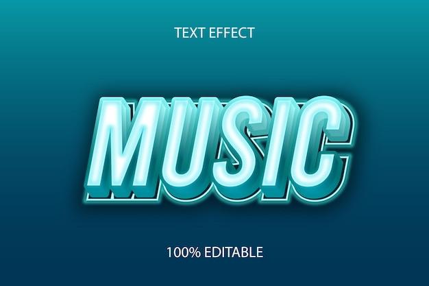 Efecto de texto editable de tosca de color de música