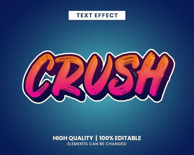 Efecto de texto editable de trazo de pincel de color vibrante