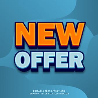 Efecto de texto editable para venta especial nueva etiqueta de oferta