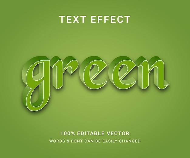 Efecto de texto editable verde