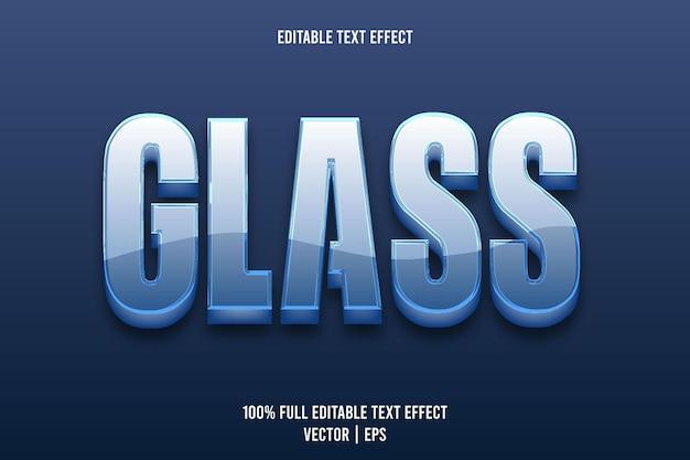 Efecto de texto editable de vidrio 3 dimensiones en relieve estilo de lujo