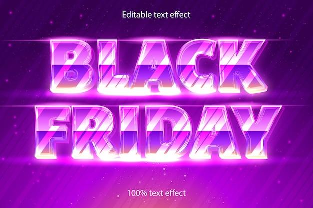 Efecto de texto editable de viernes negro retro con estilo moderno