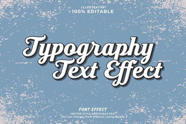 Efecto de texto editable vintage