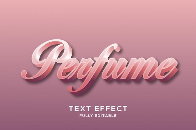 Efecto de texto elegante rosa