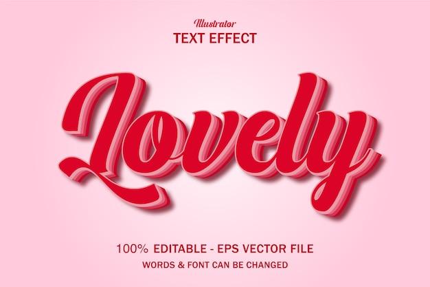 Efecto de texto encantador estilo san valentín