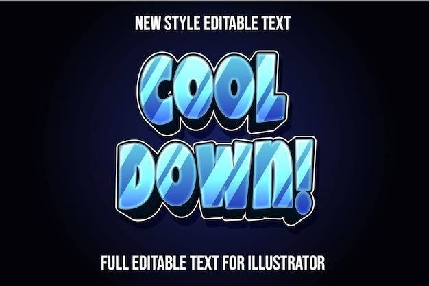 ¡el efecto de texto se enfría! degradado de color azul y negro