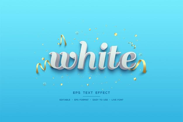 Efecto de texto con escritura blanca sobre un fondo azul claro.