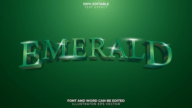 Efecto de texto esmeralda gema brillante verde completamente editable