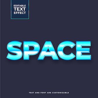 Efecto de texto espacio creativo