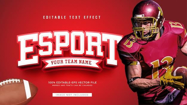 Efecto de texto de esport