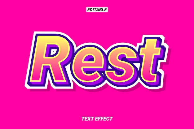 Efecto de texto estilizado con estilo agradable