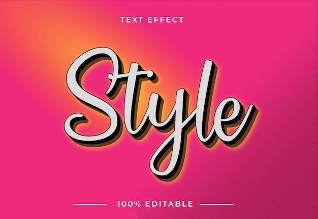 Efecto de texto de estilo 3d con fondo degradado